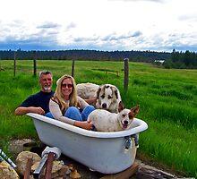 Country Hot Tub by Tamara Valjean