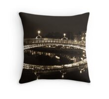 Dublin's Ha'penny Bridge Throw Pillow