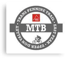 Mountain Bike T-Shirt - Trans Pennine Trail - East Peak Apparel Canvas Print