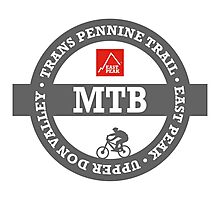 Mountain Bike T-Shirt - Trans Pennine Trail - East Peak Apparel Photographic Print