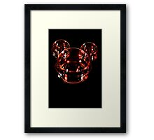 Red Bubble Framed Print