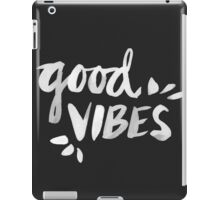 Good Vibes – White Ink iPad Case/Skin