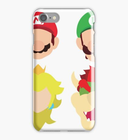Super Mario Characters iPhone Case/Skin