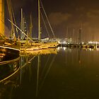 Barcelona Marina at night by Paul Thompson Photography
