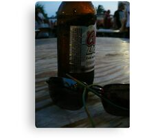 Beer And Shades Canvas Print