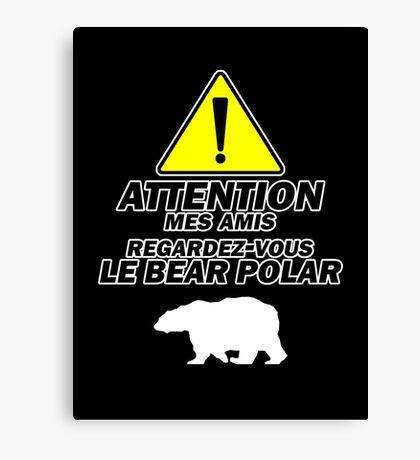"""Le Bear Polar""- Cabin Pressure Canvas Print"