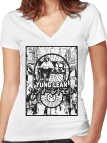 Yung Lean - Yoshi City Women's Fitted V-Neck T-Shirt
