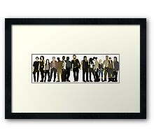 The Walking Dead Cast Framed Print