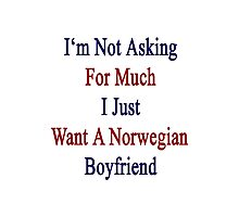I'm Not Asking For Much I Just Want A Norwegian Boyfriend  Photographic Print