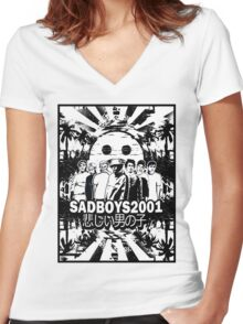 Yung Lean - Sadboys Women's Fitted V-Neck T-Shirt