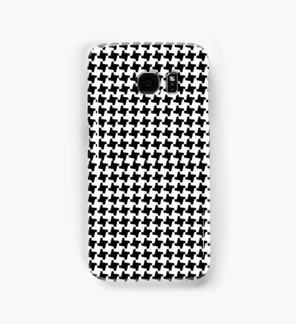 BLACK HOUNDSTOOTH Samsung Galaxy Case/Skin