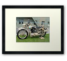 WW2 British Army Motorcycle Framed Print
