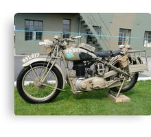 WW2 British Army Motorcycle Canvas Print