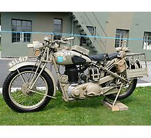 WW2 British Army Motorcycle Photographic Print