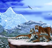 Tigers on a ledge by larryr33