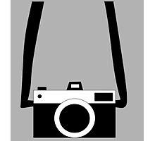 Black and White Camera  Photographic Print