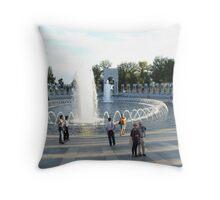 WWII Memorial Throw Pillow