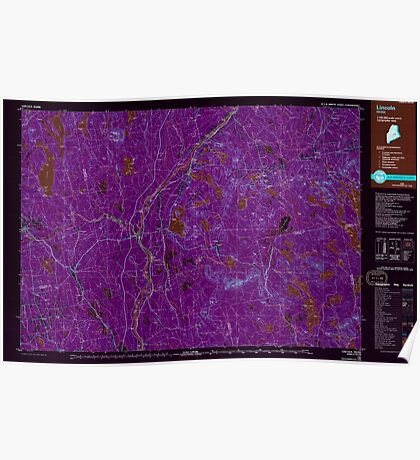 Maine USGS Historical Map Lincoln 808025 1985 100000 Inversion Poster