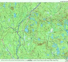 Maine USGS Historical Map Lincoln 808025 1985 100000 by wetdryvac