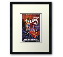 ALIEN FROM L.A. B MOVIE Framed Print
