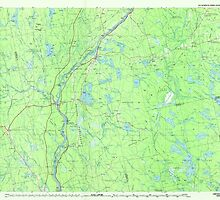 Maine USGS Historical Map Lincoln 808026 1986 100000 by wetdryvac