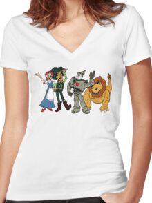 Oz Story Women's Fitted V-Neck T-Shirt