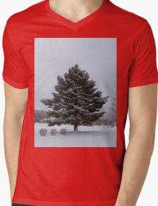 Snow Tree Mens V-Neck T-Shirt