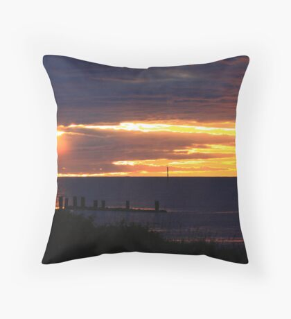 Sunset on a Sea Shore Throw Pillow