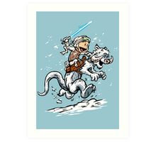Calvin and Hoth Art Print