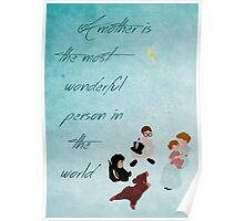 Peter Pan inspired Mother's Day design. Poster