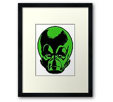Big Green Mekon Head  Framed Print