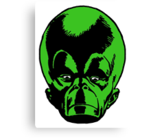 Big Green Mekon Head  Canvas Print