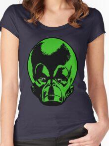 Big Green Mekon Head  Women's Fitted Scoop T-Shirt