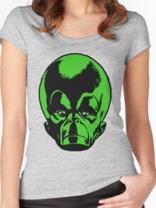 Big Green Mekon Head  Women's Fitted Scoop T-Shirt