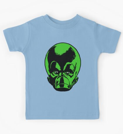 Big Green Mekon Head  Kids Tee