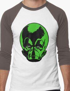 Big Green Mekon Head  Men's Baseball ¾ T-Shirt