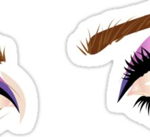 Eyes with make up 5 Sticker