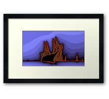 Old Castles - an abstract view Framed Print