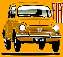 Fiat 600 yellow by car2oonz