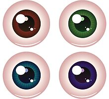 Eye Balls of Different Colors 4 by AnnArtshock