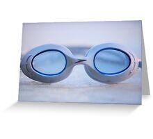 Swim Goggles Greeting Card