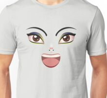 Facial Expression of Woman Unisex T-Shirt