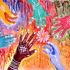 Holi - Indian Festival Painting by Almonda