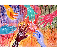 Holi - Indian Festival Painting Photographic Print