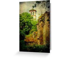 Granada canvas Greeting Card