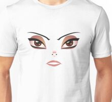 Facial Expression of Woman 4 Unisex T-Shirt