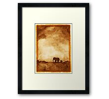Mother and baby elephant Framed Print