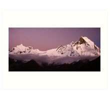 Sunset over Macchapuchre (Annapurna Region, Nepal) Art Print