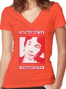 Shigeru Women's Fitted V-Neck T-Shirt