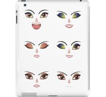 Facial Expression of Woman 7 iPad Case/Skin